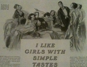 """A group of sophisticated young things undertook to enlighten me."" Saturday Evening Post 208:52 (6/27/36), p. 10."