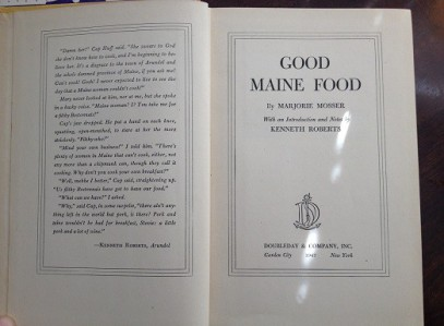 Good Maine Food (1947) - Title Page