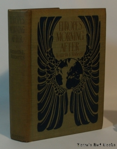 "The cover of ""Europe's Morning After"", 1921 1st ed. Courtesy of Townsend Books."
